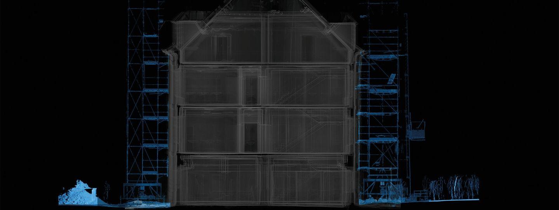 analyses géométriques d'un bâtiment du patrimoine