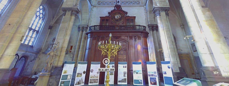 interface 360 d'une église du patrimoine