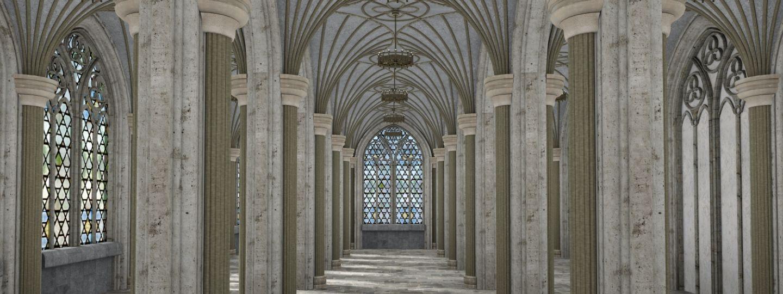 modélisation 3D d'une église patrimoine