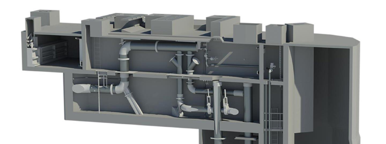 modélisation 3D d'une usine industrielle