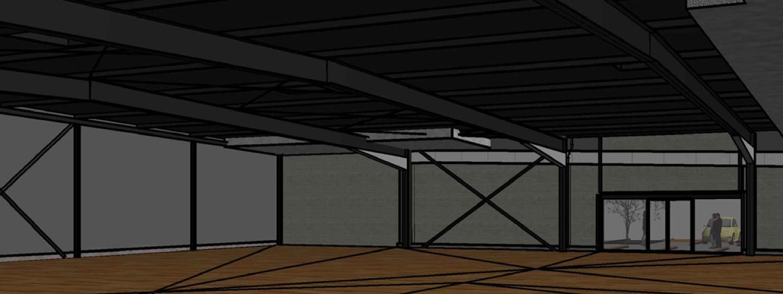 modélisation 3D d'un magasin