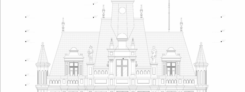 plans 2D d'une église patrimoine