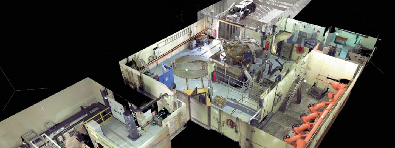 relevés 3D d'une usine industrielle